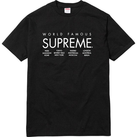 Supreme International Tee Black