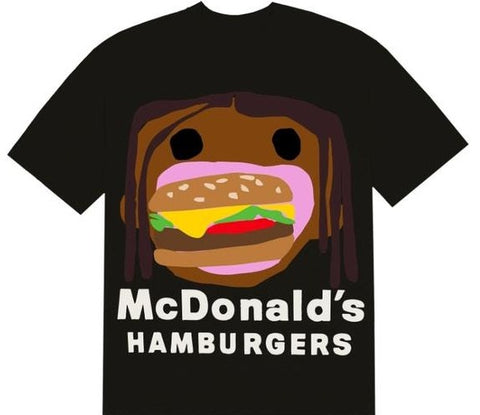 Travis Scott x CPFM 4 CJ Burger Mouth Tee Black