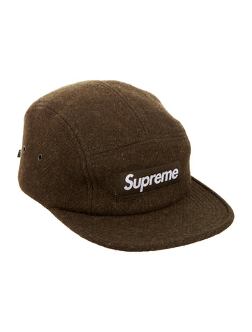 Supreme Harris Tweed camp cap Brown