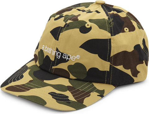 A Bathing Ape Yellow 1st Camo 6 Panel
