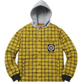 Supreme Quilted Liner Hooded Jacket Yellow Plaid