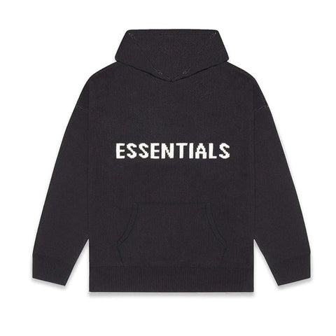 FEAR OF GOD ESSENTIALS Knit Hoodie Dark Slate/Stretch Limo/Black