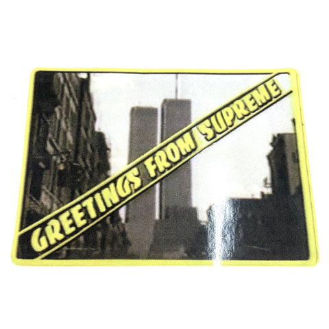 Supreme Greetings From NY Sticker