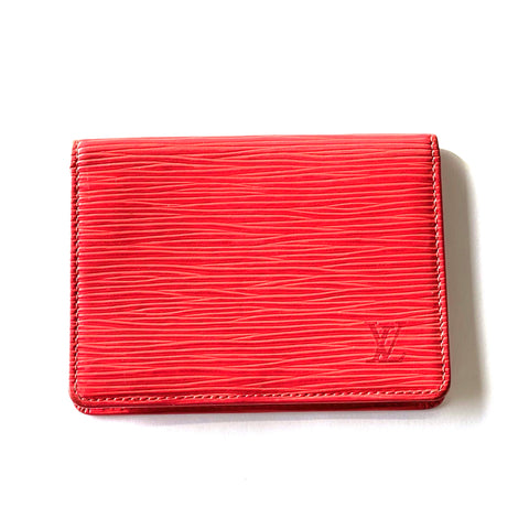 Louis Vuitton Red Epi Leather Id Holder