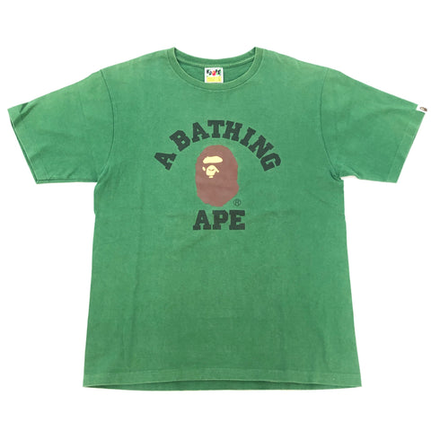 A Bathing Ape College Tee Green