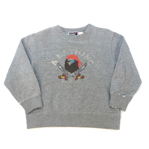 A Bathing Ape Kids Pirate Store Crewneck Grey