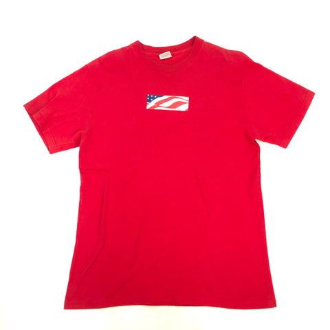 Supreme Red 9/11 Box Logo Tee