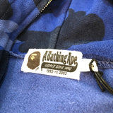 A Bathing Ape Color Camo Full Zip Blue