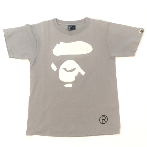 A Bathing Ape White Ape Face Tee Grey