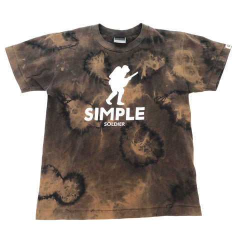 A Bathing Ape Simple Soldier Tee Black (Bleach Dye)