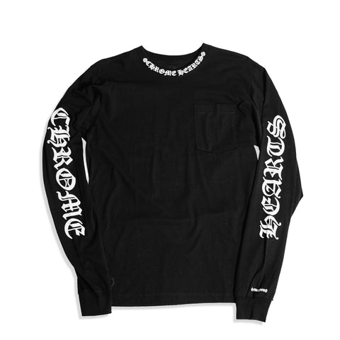Chrome Hearts Neck Logo LS Tee Black
