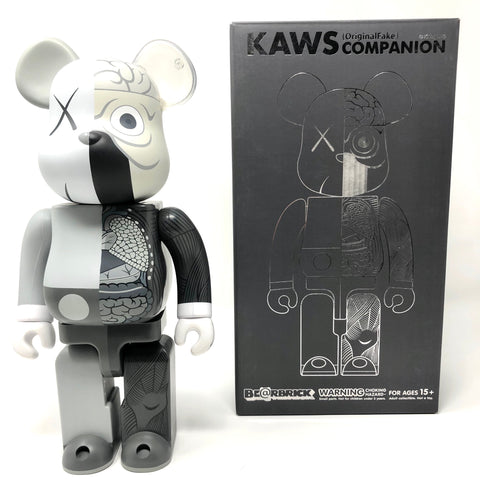 KAWS Be@rbrick Dissected 400% Grey