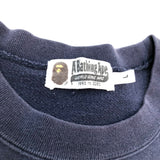 A Bathing Ape Felt Ape Head Crewneck Indigo