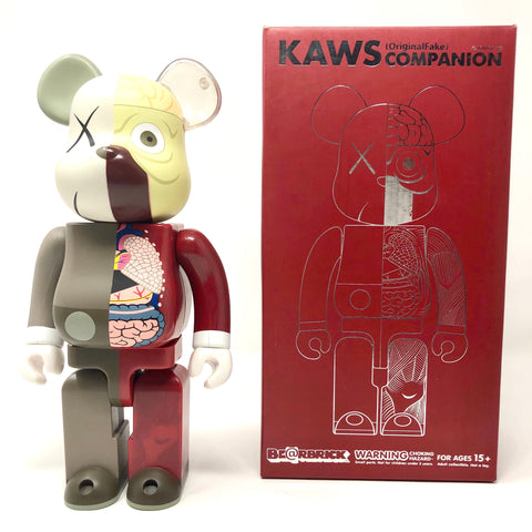 KAWS Be@rbrick Dissected 400% Brown