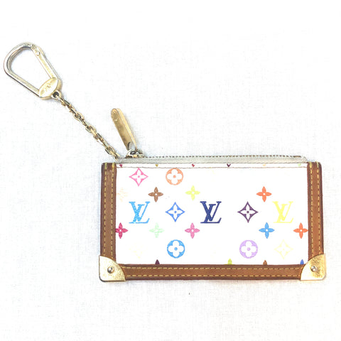 Louis Vuittion Murakami White Coin Pouch