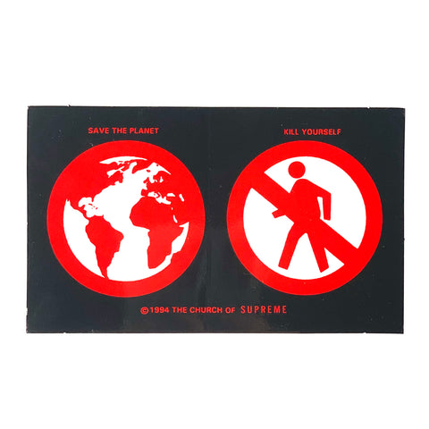 Supreme Save the Planet Sticker