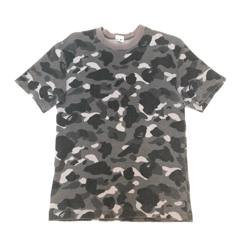 A Bathing Ape Camo Thermal Top Grey