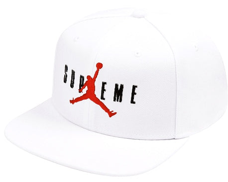 Supreme Jordan 6 Panel Hat White