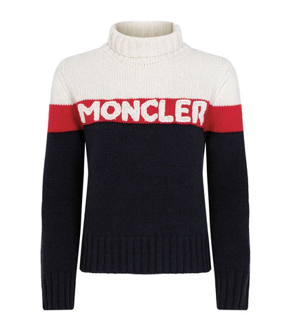 Moncler Womens Knitted Logo Sweater