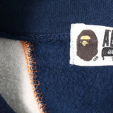 A Bathing Ape Patchwork Full Zip Sweatshirt Grey/Navy