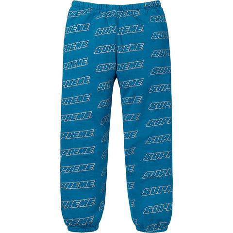 Supreme Repeat Logo Aqua Sweatpants