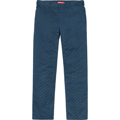 Supreme Work Pant (FW18) Light Navy Polka Dot
