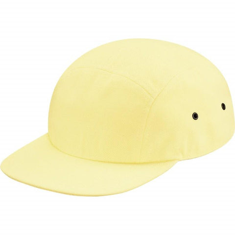 Supreme/Lacoste Yellow Pique Knit Camp Cap