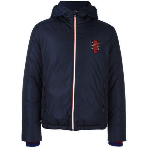 Gucci Web Patch Padded Jacket Navy