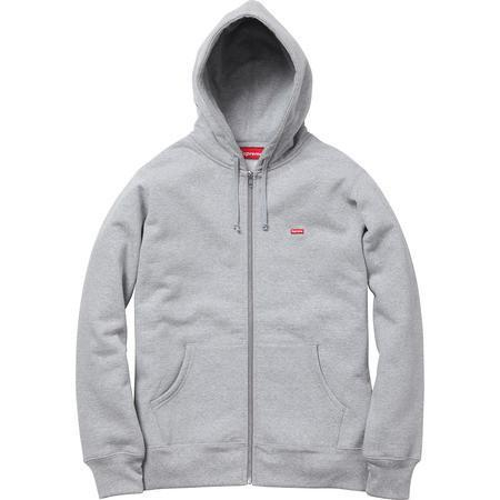 Supreme Small Box Logo Zip Up Sweatshirt Grey