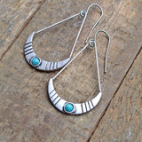 Small Silver Southwestern Dangle Earrings