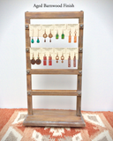 Rotating Earring Card Wood Jewelry Stand, Wooden Display, Jewelry Organizer