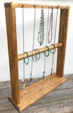 Necklace Display, Necklace Rack, Necklace Stand, Jewelry Stand, Wood Jewelry Display, Necklace Hanger, Bracelet Display, Large Free-Standing