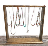 free standing table top necklace jewelry display holder organizer stand rack boho rustic