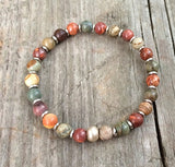 colorful stone bracelet