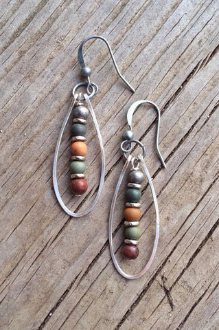 colorful stone earrings