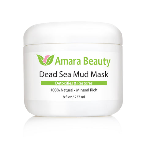 Dead Sea Mud Mask for Face & Body - Pure With No Fillers - 8 oz.