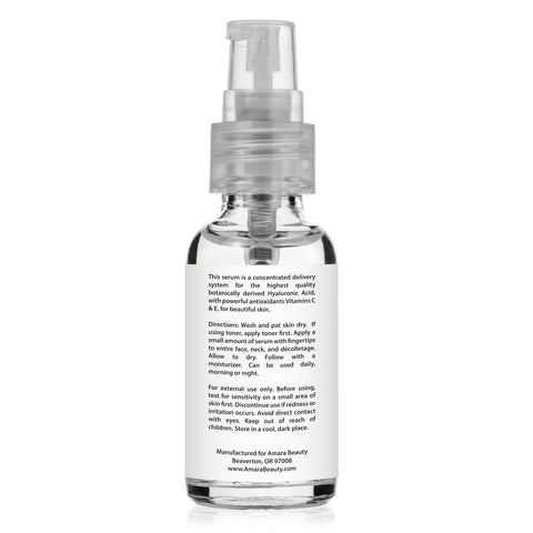 Hyaluronic Acid Serum for Skin With Vitamins C & E - 1 oz