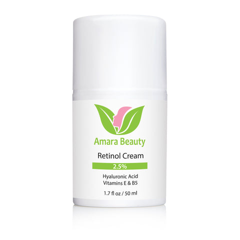 Retinol Cream for Face 2.5% With Hyaluronic Acid & Vitamins E & B5 - 1.7 oz