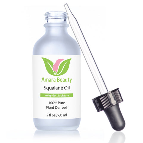 Squalane Oil Moisturizer - 100% Pure & Plant Derived for Face, Body, Skin and Hair - 2 fl. oz.
