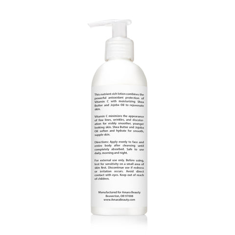 Vitamin C Lotion 15% For Face & Body With Shea Butter & Jojoba Oil - 8 oz