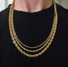 18K Gold Rope Chains