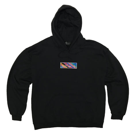 1990's Vintage Fabric Patch Logo Hoodie Sweatshirt