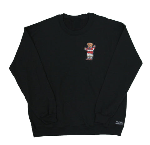 1992 Ralph Lauren Polo Bear Crewneck Sweatshirt - Black