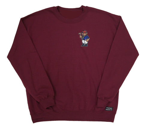 1992 Ralph Lauren Polo Bear Crewneck Sweatshirt - Burgundy