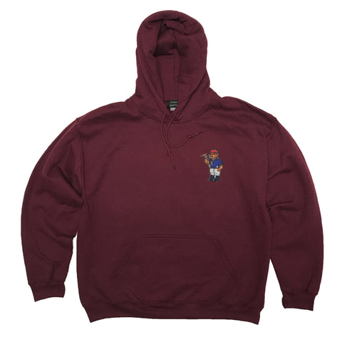 1992 Ralph Lauren Polo Bear Hoodie Sweatshirt - Burgundy