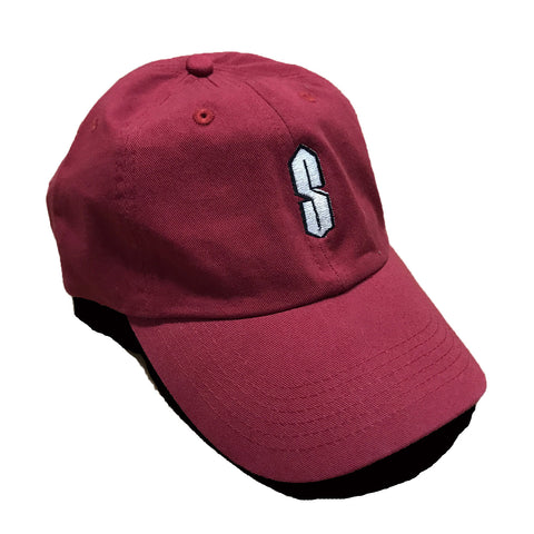 "Nostalgic ""S"" Dad Hat - Burgundy"