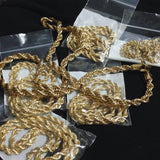 Gold Rope Chain 18K (Size 4)