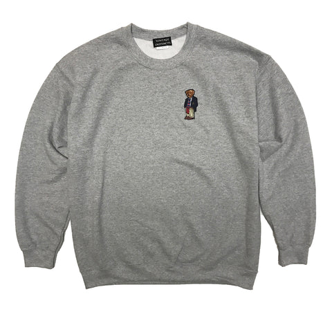 1992 Ralph Lauren Polo Bear Crewneck Sweatshirt - Gray