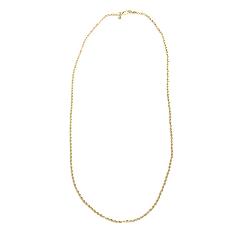 Gold Rope Chain 18K (Size 2)