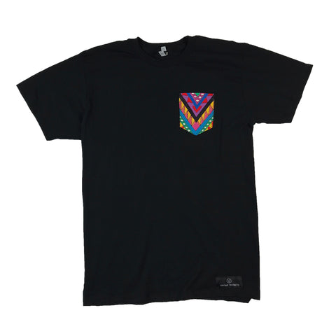 1990's Vintage Fabric Pocket Tshirt - Black